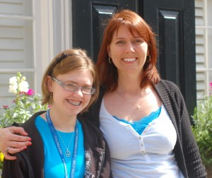 Photo of Contemporary Romance Author Kimberly Hope and Snarky Daughter