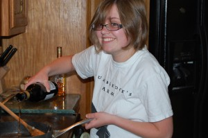 Photo of Snarky Daughter Cooking Chicken Marsala