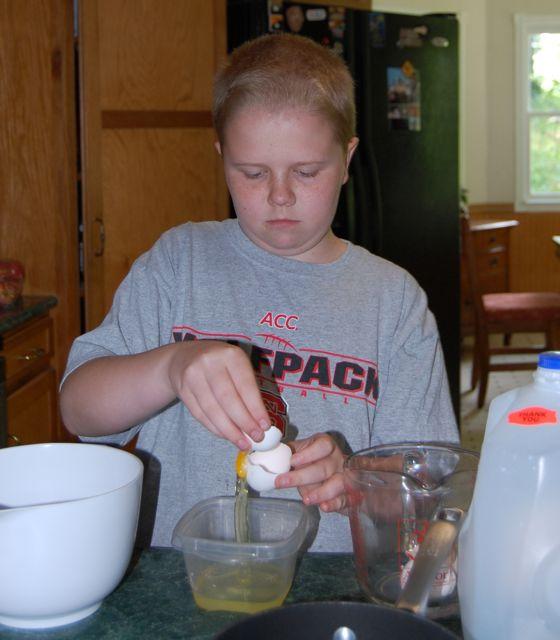 photo of Gelato Boy separating eggs
