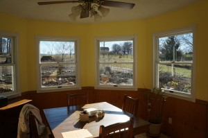 photo of a repainted breakfast nook