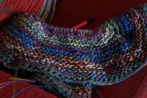 photo of handknit blanket