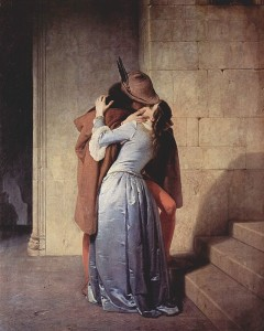 Painting of a Kiss